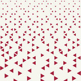 Abstract red geometric hipster fashion design print triangle pattern Royalty Free Stock Photos