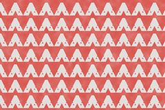 Abstract red geometric pattern and triangle shape on paper textu. Abstract geometric pattern and triangle shape on paper textured background with red color tone royalty free illustration