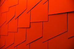 Abstract Red. Abstract Geometric Shapes With Red Light Stock Photos