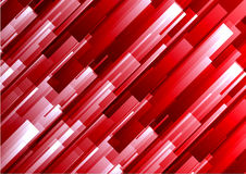 Abstract red geometric square overlap background.  Stock Image