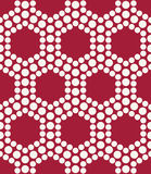 Abstract red geometric triangle design hexagon dots pattern Royalty Free Stock Photos