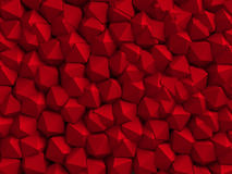 Abstract red geometric wall background. 3d render illustration royalty free illustration