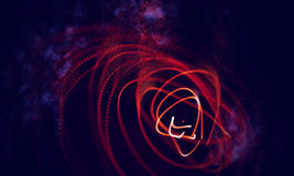 Abstract Red Geometrical Background . Connection structure. Science background. Futuristic Technology HUD Element. Abstract Black Geometrical Background royalty free illustration