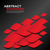Abstract red Geometrical background design Royalty Free Stock Photography