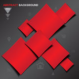 Abstract red Geometrical vector background Stock Photos