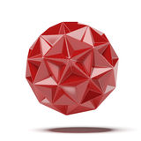 Abstract red geosphere Stock Photo