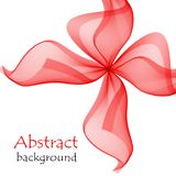 Abstract red gift bow made of transparent ribbons. On a white background Royalty Free Stock Photos