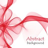 Abstract red gift bow made of transparent ribbons. On a white background Stock Photos