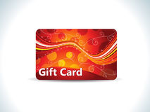 Abstract red gift card Stock Images