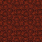 Curled Red Hair Seamless Pattern. Abstract red ginger hair texture seamless background. Curls shells pattern Stock Image