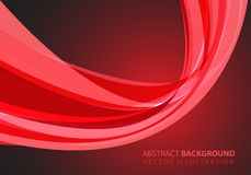 Abstract red glass curve light design modern futuristic luxury background vector. Illustration vector illustration