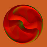 Abstract Red Glass Marble Stock Photography