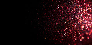 Abstract red glitter background stock photography