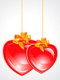 Abstract red glossy heart Royalty Free Stock Photos