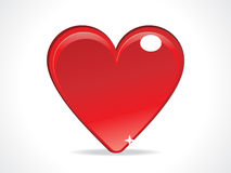 Abstract red glossy heart icon Royalty Free Stock Photography