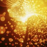 Abstract Red-Gold Background. Bright Light On Soft Bokeh Stock Images
