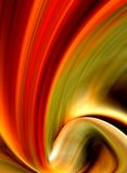 abstract red and gold curled background Royalty Free Stock Photo