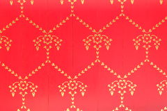 Abstract red and gold retro background. Bstract red retro background with gold pattern Royalty Free Stock Photography