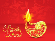 Abstract  red golden diwali vector illustration. Abstract red golden diwali vector illustration Royalty Free Stock Photos