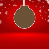 Abstract red gradient background with Christmas balls Stock Photos