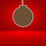 Abstract red gradient background with Christmas balls Stock Images