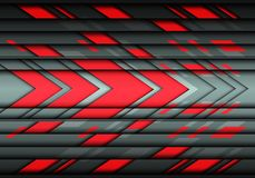 Abstract red gray arrow speed  design modern futuristic technology background vector Stock Photos