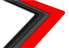 Abstract red gray arrow speed on white design modern futuristic background vector. Royalty Free Stock Image