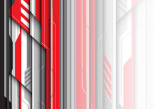 Abstract red gray metal futuristic design modern creative background vector Royalty Free Stock Photos