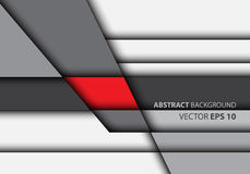 Abstract red on gray overlap style design modern futuristic vector. Abstract red on gray overlap style design modern futuristic vector illustration Royalty Free Stock Image