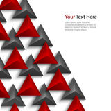 Abstract red and gray pyramids on white background Royalty Free Stock Images