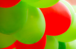 Abstract red and green ballon background Stock Photo