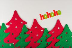abstract red and green christmas trees Royalty Free Stock Photography