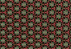 Abstract red green flower pattern wallpaper. Royalty Free Stock Photography