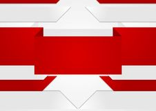 Abstract red grey geometric tech background Stock Image