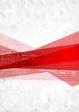 Abstract red grey technology background Stock Images