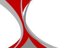 Abstract red grey wavy background Royalty Free Stock Photography