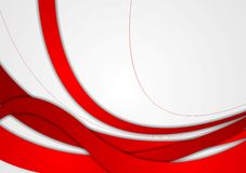Abstract Red And Grey Wavy Corporate Background Royalty Free Stock Image