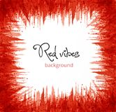 Abstract red grunge background with place for your text. Vector illustration. Abstract red grunge background with place for your text. Vector illustration Stock Image