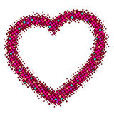 Abstract red  heart Royalty Free Stock Images