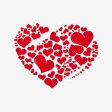 Abstract red heart Stock Image