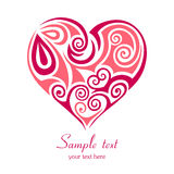 Abstract Red Heart. Royalty Free Stock Photography