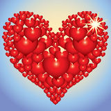 Abstract red heart Royalty Free Stock Photography