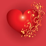 Abstract red heart. Stock Photography