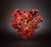 Abstract red heart Stock Photo