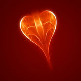 Abstract red heart Stock Photography