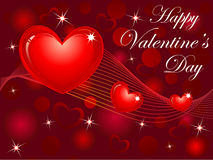 Abstract red heart background Stock Photo