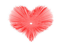 Abstract red heart background. Vector illustration Royalty Free Stock Photo