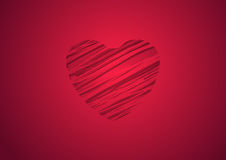 Abstract red heart background. Abstract bright red heart vector background Stock Image
