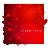 Abstract red heart background for Valentine's day Stock Images