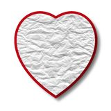 Abstract red heart from the crushed paper Stock Images